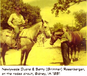 Duane & Betty Rosenberger - Sidney IA - 1951